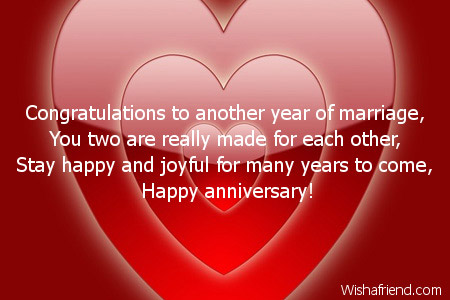 Congratulate happy anniversary both of you the best collection