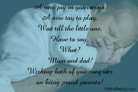 how to say congrats on new baby