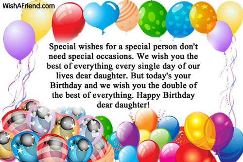 special wishes for a special