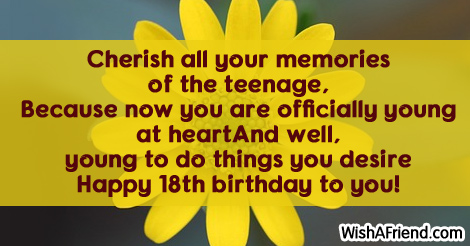 18th birthday sayings page 1