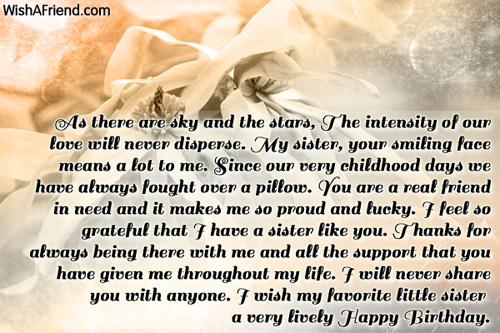 Thank You For Being My Sister Quotes: Sister Birthday Messages