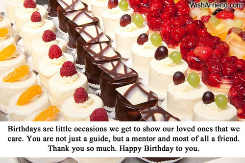 Birthday Wishes For Mentors ~ Birthday wishes for boss