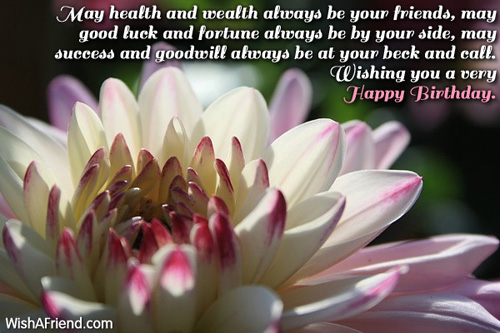 May Health And Wealth Always Be Happy Birthday Message Birthday Wishes Health Wealth And Happiness