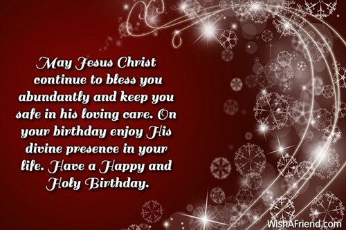 Christian Birthday Greetings