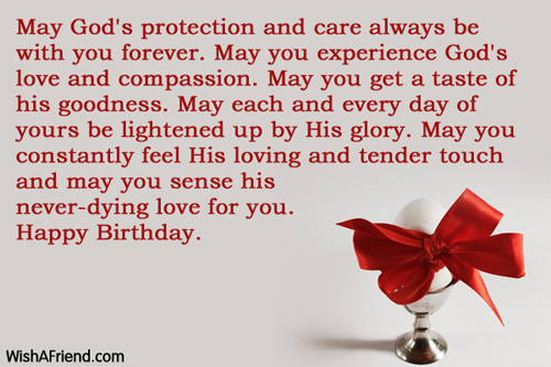 Birthday Wishes Religious Brother ~ May god s protection and care always christian birthday greetings