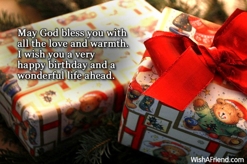 May God bless you with
