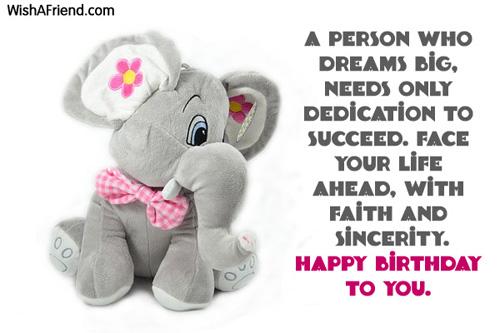 A person who dreams big,
