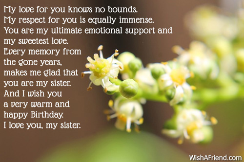 Emotional Birthday Quotes For A Friend : Sister birthday messages