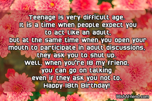 18th Birthday Quotes For My Best Friend : Th birthday wishes