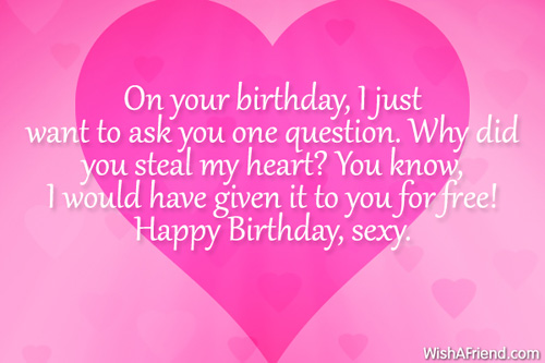 Funny Birthday Quotes For Your Girlfriend : Birthday wishes for boyfriend