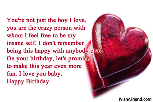Love Quotes For Him On His Bday : Hey Birthday boy, when do I get to give you your birthday kiss? I can ...