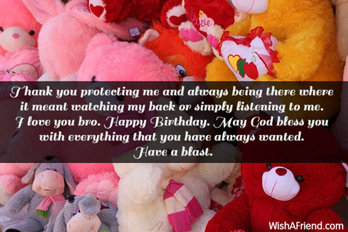 Thank You For Being My Sister Quotes: Brother Birthday Messages
