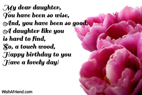 images of birthday wishes for daughter - photo #38