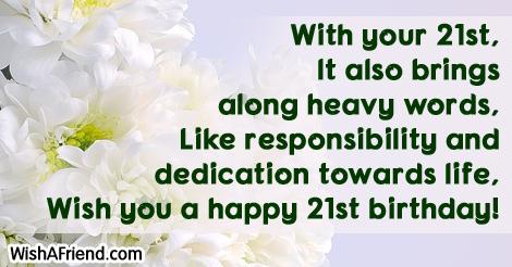 21st birthday sayings