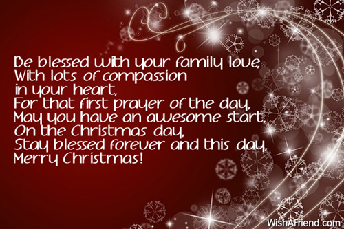 Be Blessed With Your Family Love, With, Christmas Blessings