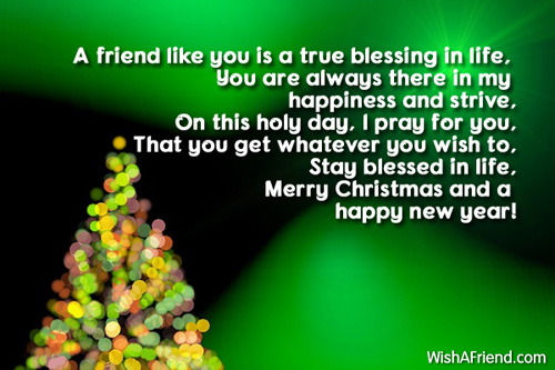 Christian christmas messages for friends