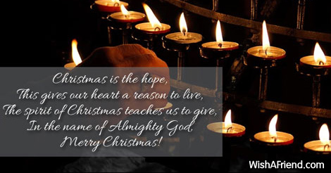 Christmas is the hope this gives our religious christmas saying