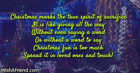 true spirit of christmas essay The spirit of christmas a short essay - 393 words the ornament on my family christmas tree that i like best is an ornament with a sparkly snowman embracing a little bear cub.