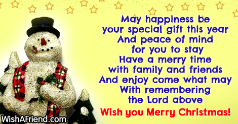 May happiness be your special gift, Christmas Blessings