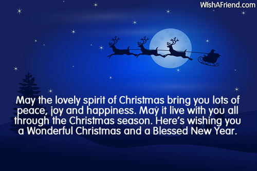 May the lovely spirit of Christmas, Christmas Wish