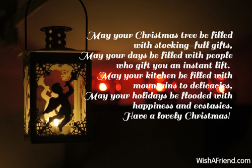 May Your Christmas Tree... , Short Christmas Poem