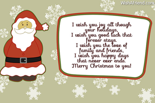 Christmas Wishes Quotes And Poems For Friends: My Christmas Wishes For You, Short Christmas Poem