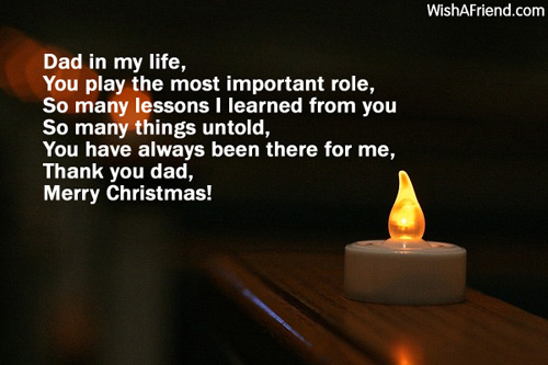 Dad In My Life You Play Christmas Messages For Dad
