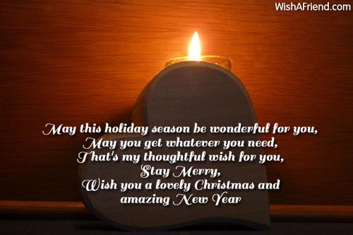 May this holiday season be wonderful, Christmas messages ...