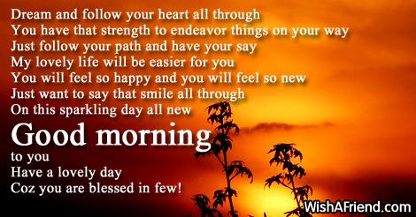 Sweet Good Morning Poems For Her