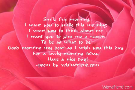 valentines day poems for him fiance - good morning poems for her