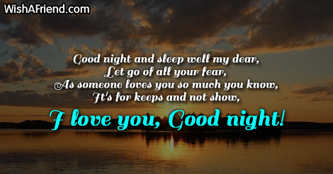 Romantic Good Night My Love