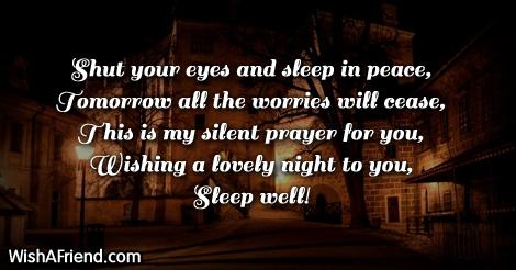 Shut your eyes and sleep
