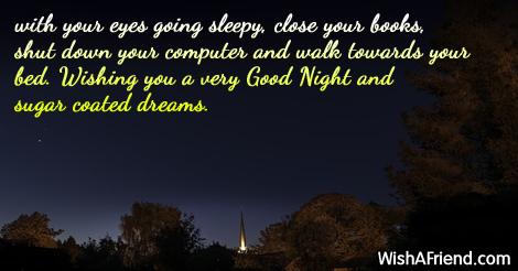 with your eyes going sleepy,