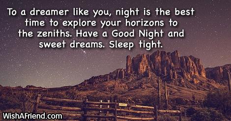 To a dreamer like you,