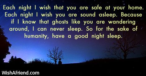 Each night I wish that