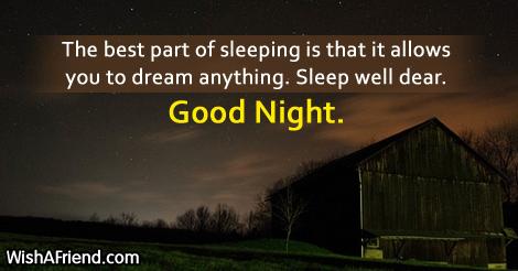 The best part of sleeping
