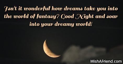 Isn't it wonderful how dreams