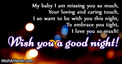 My baby I am mi... Loving Words For Husband