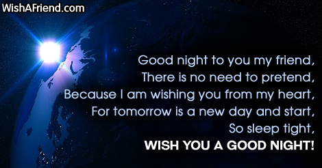 Good night to you my