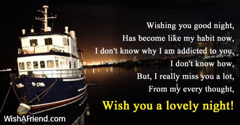Wishing you good night, Has become