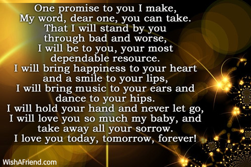 i promise to love you forever poems