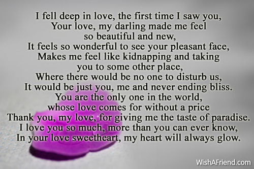 Love you in poems with Short Love