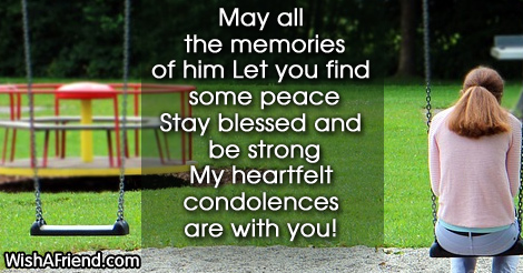 may all the memories of him let sympathy message for loss of father