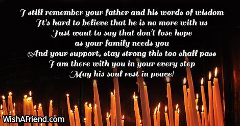 the loss and death of a father Treasure the memories of your father long after he's gone with one of our sympathy gifts for loss of father we are sure to have the perfect personalized gift.