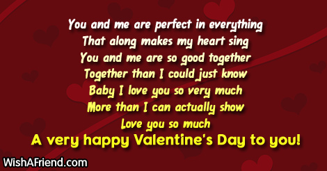 You And Me Are Perfect In Valentine S Day Messages For